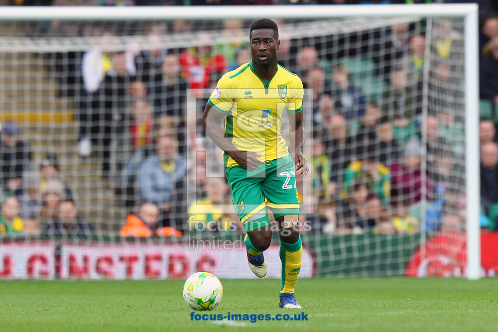 Alexander Tettey of Norwich in action during the Sky Bet Championship match at Carrow Road, Norwich<br /> Picture by Paul Chesterton/Focus Images Ltd +44 7904 640267<br /> 18/03/2017