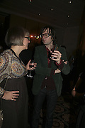 Jarvis Cocker and Philippa Perry, The South Bank Show Awards, Savoy Hotel. London. 23 January 2007.  -DO NOT ARCHIVE-© Copyright Photograph by Dafydd Jones. 248 Clapham Rd. London SW9 0PZ. Tel 0207 820 0771. www.dafjones.com.
