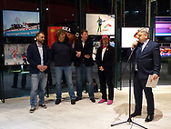 Warsaw, Poland - 2018 March 28: Photoexhibition Winter Olympic Games in PyeongChang 2018 at Polish Olympic Committee Centre on March 28, 2018 in Warsaw, Poland.<br /> <br /> Jan Rozmarynowski declares that he has no rights to the image of people at the photographs of his authorship.<br /> <br /> Any editorial, commercial or promotional use requires written permission from the author of image.<br /> <br /> Mandatory credit:<br /> Photo by © Jan Rozmarynowski