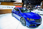 New York, NY - 12 April 2017. The new 2018 Acura TLX, a luxury performance sedan.