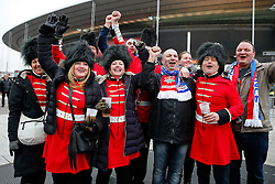 England supporters gather outside the stadium in anticipation of the match - Mandatory byline: Rogan Thomson/JMP - 19/03/2016 - RUGBY UNION - Stade de France - Paris, France - France v England - RBS 6 Nations 2016.