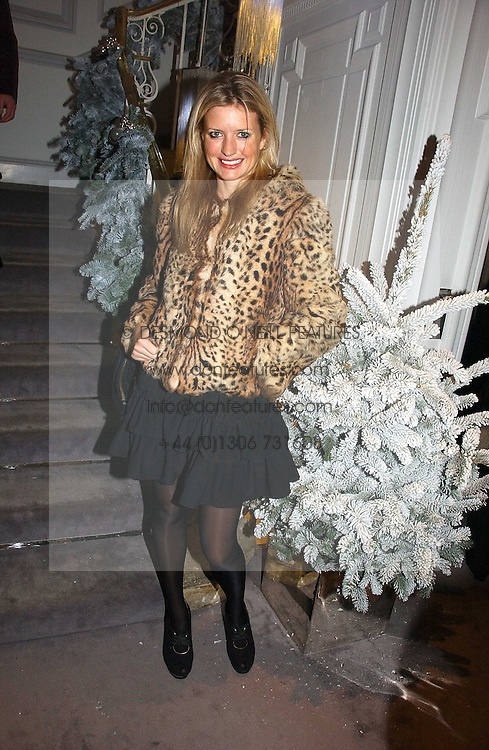 LAINEY SHERIDAN-YOUNG at Garrard's Winter Wonderland party held at their store 24 Albermarle Street, London W1 on 30th November 2006.<br /><br /><br />NON EXCLUSIVE - WORLD RIGHTS
