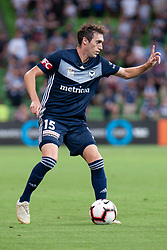January 26, 2019 - Melbourne, VIC, U.S. - MELBOURNE, AUSTRALIA - JANUARY 26: Melbourne Victory midfielder Raul Baena (15) gestures at the Hyundai A-League Round 16 soccer match between Melbourne Victory and Sydney FC on January 26, 2019, at AAMI Park in VIC, Australia. (Photo by Speed Media/Icon Sportswire) (Credit Image: © Speed Media/Icon SMI via ZUMA Press)