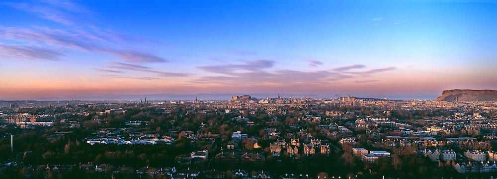 Edinburgh Skyline just after Dusk