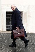 2013/03/29 Roma, politici in Piazza Montecitorio. Nella foto Valerio Onida.<br /> Rome, politicians in Montecitorio Square. In the picture Valerio Onida - &copy; PIERPAOLO SCAVUZZO