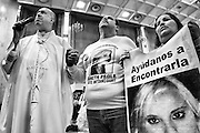 Father Eduardo Hayen Cuarón holds a vigil at the Cathedral of Our Lady of Guadalupe for the parents of Janeth Paola Soto Betancourt who disappeared in 2011 at the age of 19. Ciudad Juarez, Mexico. May 23, 2015. (Photo by Gabriel Romero ©2015)