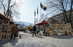 Image shows local nationals in the Old Town quarter of Sarjevo.<br /> 11/03/2015.<br /> Credit should read: Cpl Mark Larner, Media Ops Group.<br /> <br /> Exercise Civil Cridge is an exercise in support of UK Defence Engagement by elements of 77 Brigade. Civil Bridge 14B (CB14B) is being conducted Sarajevo, Bosnia &amp; Herzegovina (BiH).<br /> <br /> By assisting the BiH Government to develop their contingency plans for natural disasters at both strategic and operational levels, CB14B will contribute to the long term international effort to stabilise BiH ethnic groups and authorities.
