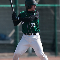 11 April 2010: Tom Mayeux of Montigny is seen at bat during game 1/week 1 of the French Elite season won 5-1 by Rouen over Montigny, at the Cougars Stadium in Montigny le Bretonneux, France.