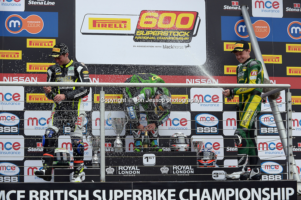 Pirelli National Superstock 600 Championship Podium