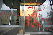 AfD headquarter sprayed with slogans
