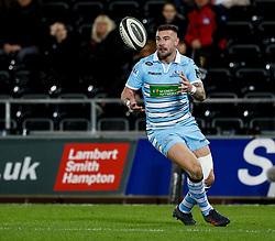 2nd November, Liberty Stadium , Swansea, Wales ; Guinness pro 14's Ospreys Rugby v Glasgow Warriors ;  Rory Hughes of Glasgow Warriors<br /> <br /> Credit: Simon King/News Images<br /> <br /> Photographer Simon King/Replay Images<br /> <br /> Guinness PRO14 Round 8 - Ospreys v Glasgow Warriors - Friday 2nd November 2018 - Liberty Stadium - Swansea<br /> <br /> World Copyright © Replay Images . All rights reserved. info@replayimages.co.uk - http://replayimages.co.uk