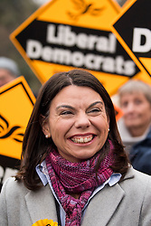© Licensed to London News Pictures. 02/12/2016. London, UK. Liberal Democrat MP for Richmond Park SARAH OLNEY during a television interfere in Richmond this morning. Zac Goldsmith resigned from the conservative party in order to force a by-election, in protest at government backing of the third runway at Heathrow airport. Photo credit: Ben Cawthra/LNP