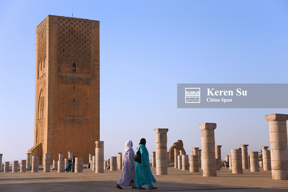 Hassan Tower with pillars, Rabat, Morocco