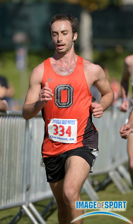 Nov 14, 2015; Claremont, CA, USA; Robert George of Occidental runs during the 2015 NCAA Division III West Regionals cross country championships at Pomona-Pitzer College.