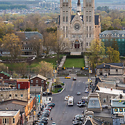 Basilica of our lady and MacDonell in the foreground.