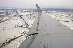 Vista aérea da chegada no aeroporto internacional de Winnipeg, no Canadá. FOTO: Jefferson Bernardes/Preview.com