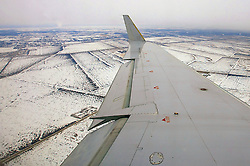 Vista aérea da chegada no aeroporto internacional de Winnipeg, no Canadá. FOTO: Jefferson Bernardes/Preview.com