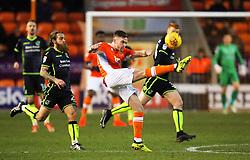 Oliver Turton of Blackpool clears the ball - Mandatory by-line: Matt McNulty/JMP - 13/01/2018 - FOOTBALL - Bloomfield Road - Blackpool, England - Blackpool v Bristol Rovers - Sky Bet League One