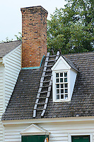 Detail of colonial architecture in Williamsburg, Virginia.