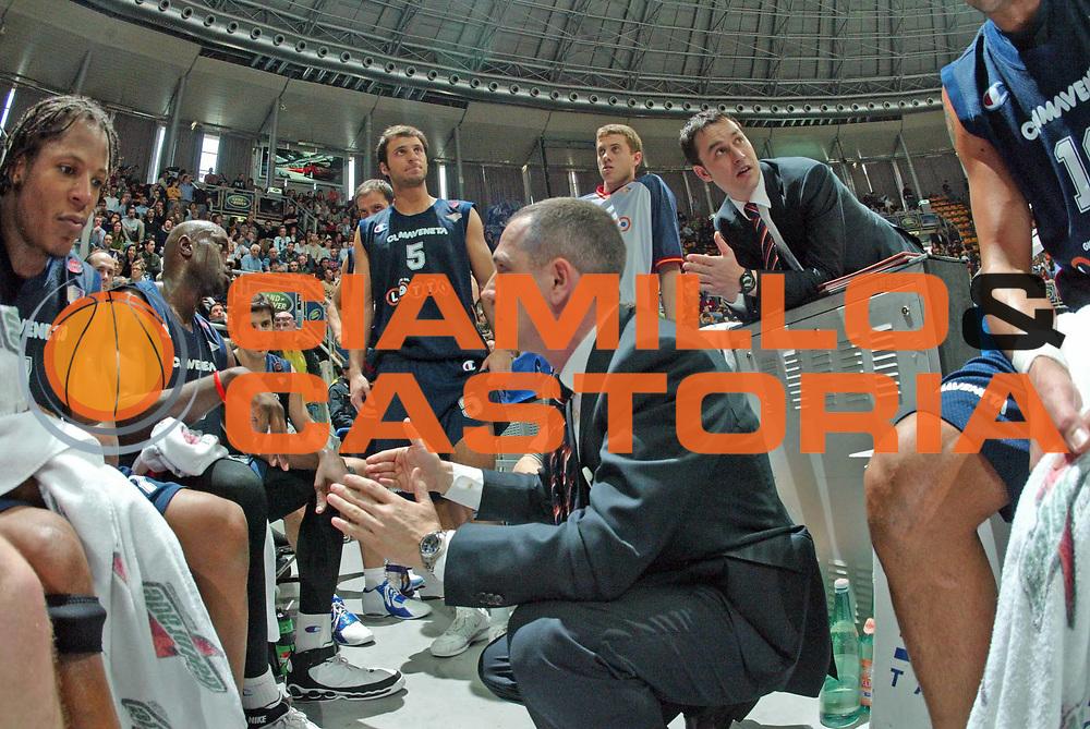 DESCRIZIONE : Bologna Lega A1 2005-06  Climamio Fortitudo Bologna Lottomatica Virtus Roma <br /> GIOCATORE : Lottomatica Virtus Roma Time out<br /> SQUADRA :  Lottomatica Virtus Roma<br /> EVENTO : Campionato Lega A1 2005-2006<br /> GARA : Climamio Fortitudo Bologna Lottomatica Virtus Roma<br /> DATA : 26/03/2006 <br /> CATEGORIA : time out<br /> SPORT : Pallacanestro <br /> AUTORE : Agenzia Ciamillo-Castoria/G.Livaldi