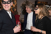 ROBERT ROWLAND SMITH,; COSMO LANDESMAN;  ANDREA WULF, Sotheby's Erotic sale cocktail party, Sothebys. London. 14 February 2018