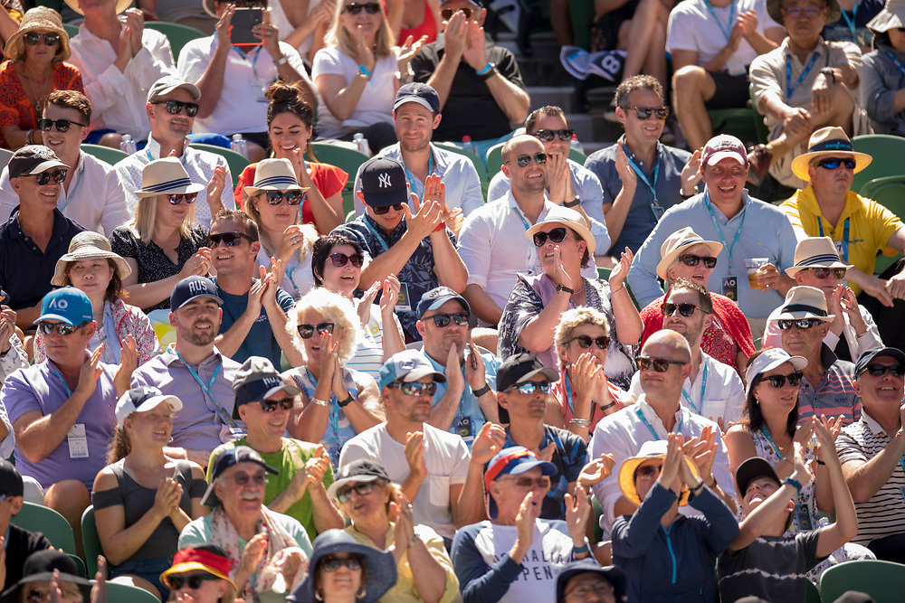 Fans on day ten of the 2018 Australian Open in Melbourne Australia on Wednesday January 24, 2018.<br /> (Ben Solomon/Tennis Australia)