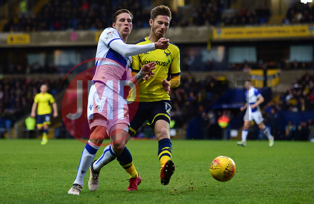 Joe Partington of Bristol Rovers Battles for the ball with James Henry of Oxford United - Mandatory by-line: Alex James/JMP - 10/02/2018 - FOOTBALL - Kassam Stadium - Oxford, England - Oxford United v Bristol Rovers - Sky Bet League One