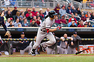 Jacoby Ellsbury #2 of the Boston Red Sox bats against the Minnesota Twins on May 17, 2013 at Target Field in Minneapolis, Minnesota.  The Red Sox defeated the Twins 3 to 2.  Photo: Ben Krause