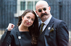 2017-12-07 Prisoner Charles Bronson's new wife Paula Williamson delivers ppetition to Downing Street