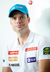 Miha Verdnik during press conference of Slovenian Men Alpine Ski Team before new season 2016/17, on September 27, 2016 in Generali, Ljubljana, Slovenia. Photo by Vid Ponikvar / Sportida