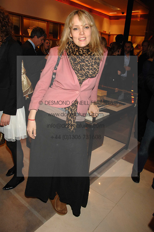 BAY GARNETT at a reception to launch the 2007 Louis Vuitton Christmas windows in collaboration with Central Saint Martins College of Art & Design held at 17-18 New Bond Street, London W1 on 7th November 2007.<br />