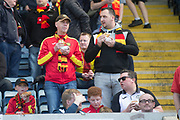 12th May 2018, Dens Park, Dundee, Scotland; Scottish Premier League football, Dundee versus Partick Thistle; Partick Thistle fans