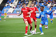 Peterborough United midfielder Siriki Dembele (10) tries to get into the box during the EFL Sky Bet League 1 match between Peterborough United and Accrington Stanley at London Road, Peterborough, England on 20 October 2018.
