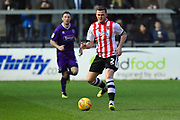 Pierce Sweeney (2) of Exeter City during the EFL Sky Bet League 2 match between Exeter City and Grimsby Town FC at St James' Park, Exeter, England on 29 December 2018.