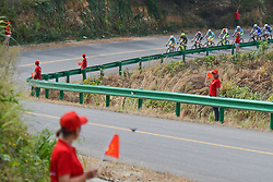 September 16, 2016 - Wuhan, China - Riders during the first lap of the final sixth stage, 99.6km Wuhan Xinzhou Circuit race, of the 2016 Tour of China 1...On Friday, 16 September 2016, in Xinzhou, Wuhan , China. (Credit Image: © Artur Widak/NurPhoto via ZUMA Press)