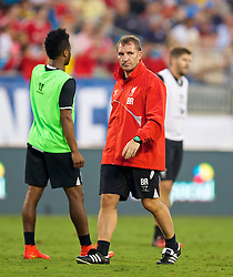 CHARLOTTE, USA - Friday, August 1, 2014: Liverpool's manager Brendan Rodgers during a training session at the Bank of America Stadium on day twelve of the club's USA Tour. (Pic by David Rawcliffe/Propaganda)