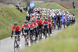 March 23, 2018 - Harelbeke, Belgium - The pack of riders in action during the 61st edition of the 'E3 Prijs Vlaanderen Harelbeke' cycling race, 206,5 km from and to Harelbeke. (Credit Image: © Dirk Waem/Belga via ZUMA Press)