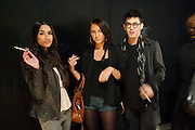 SINITTA BASRA; DASHA SAMOYLOVA; DANNY CHAN; Fired Up, Exhibition of work by Joe Clark, Lauren Cotton, Rory McCartney, David Jones and Farid Rasulov. Gazelli Art House. Wakefield st. London. WC1. 10 February 2011. -DO NOT ARCHIVE-© Copyright Photograph by Dafydd Jones. 248 Clapham Rd. London SW9 0PZ. Tel 0207 820 0771. www.dafjones.com.