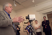 16287Tom Schiff talking about his work at Trisolini Gallery