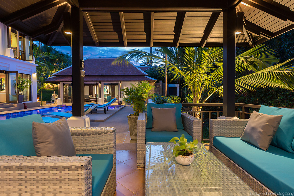 Pool sala at Villa Divina, a private and luxury 3 bedroom villa located in Plumeria Place, a private residence in Bang Rak, Koh Samui, Thailand