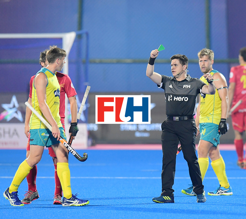 Odisha Men's Hockey World League Final Bhubaneswar 2017<br /> Match id:15<br /> Spain v Australia<br /> Foto: Umpire Diego Barbas<br /> COPYRIGHT WORLDSPORTPICS FRANK UIJLENBROEK