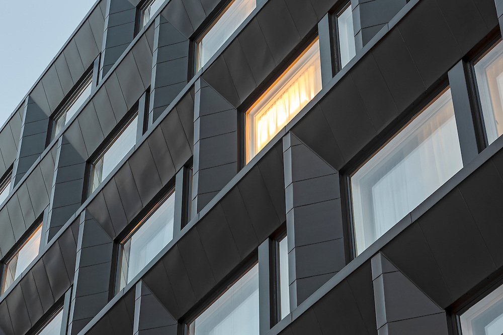 Hotel Indigo Helsinki in Finland, designed by Soini & Horto architects