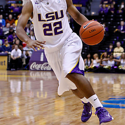November 30, 2010; Baton Rouge, LA, USA;  LSU Tigers guard Ralston Turner (22) during the first half against the Houston Cougars at the Pete Maravich Assembly Center.  Mandatory Credit: Derick E. Hingle