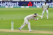 Wicket - Ben Stokes of England is trapped lbw by Mohammed Shami of India during the first day of the 4th SpecSavers International Test Match 2018 match between England and India at the Ageas Bowl, Southampton, United Kingdom on 30 August 2018.