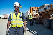 Workman at the Sere Wind Farm Project