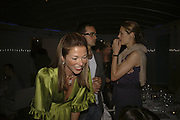 HEATHER KERZNER, EVGENI LEBEDEV AND YASMIN LE BON, Yasmin Mills book launch party ' How to Party', Harvey Nichols, London, SW1, 3 July 2006. <br />All profits from the book's sales are donated to Hope & Homes for Children.<br />ONE TIME USE ONLY - DO NOT ARCHIVE  © Copyright Photograph by Dafydd Jones 66 Stockwell Park Rd. London SW9 0DA Tel 020 7733 0108 www.dafjones.com