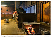 Texas BBQ, cooked on wood pits at Kreuz Market in Lockhart. Advertising and Editorial Photography in Dallas, Austin, Waco, Houston, San Antonio, Tyler, and Abilene.