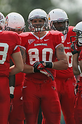 15 September 2012:  James O'Shaughnessy during an NCAA football game between the Eastern Illinois Panthers and the Illinois State Redbirds at Hancock Stadium in Normal IL