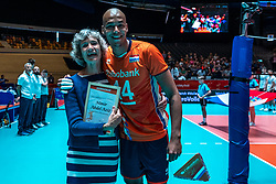 25-05-2019 NED: Golden League Netherlands - Croatia, Apeldoorn<br /> First match poule B: Dutch open Golden European League with 3-2 win over Croatia / Nimir Abdelaziz #14 of Netherlands