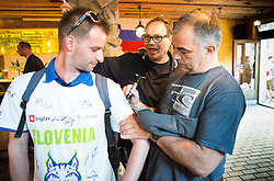 Matjaz Kopitar, head coach Slovenia of Slovenian Ice Hockey National Team at meeting with their supporters at day off during 2015 IIHF World Championship, on May 9, 2015 in Restaurant Zadni Vratka, Stodolni Street, Ostrava, Czech Republic. Photo by Vid Ponikvar / Sportida